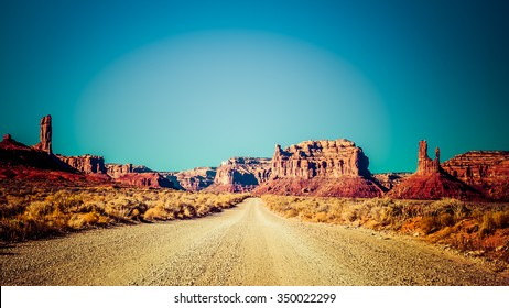 Valley of the Gods is a scenic backcountry area is southeastern Utah, near Mexican Hat. It is a hidden gem with scenery similar to that of nearby Monument Valley.