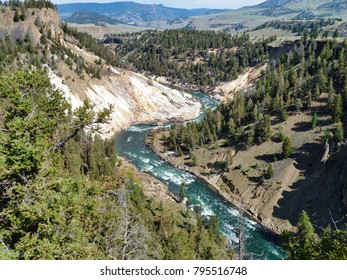 Valley and gorge - Yellowstone National Park