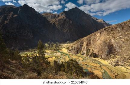 Ca�±ete valley in Huancaya, Lima, Peru