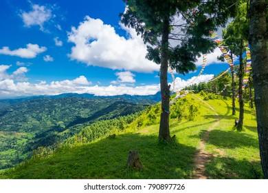 Valley of Kathmandu, Nepal during summer