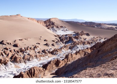 Valley of the Moon landscape, Chile. Chilean panorama. Valle de la Luna