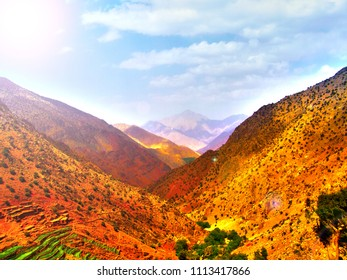 Valley in Morocco