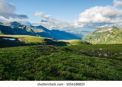 The valley of the Mutnovskaya Kamchatka Peninsula