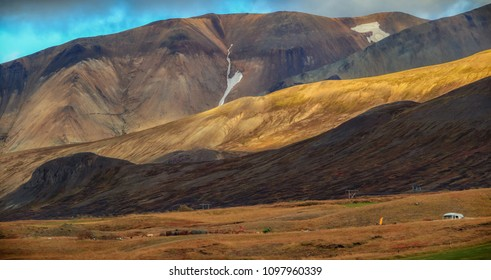 Valley National Park Landmannalaugar. Magnificent Iceland.