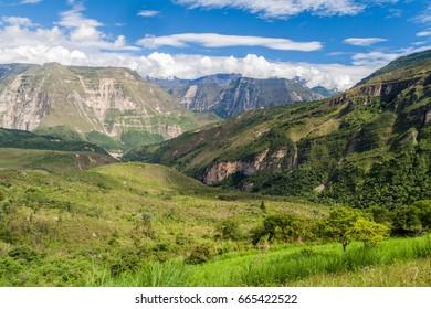 Valley near Catarata del Gocta waterfall, Peru