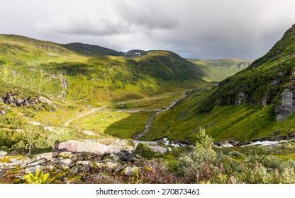 Valley in Norwegian mountains