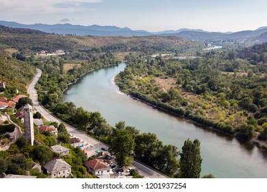 Valley of the river Neretva in Bosnia and Herzegovina
