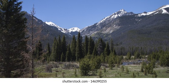 Valley in the Rocky Mountains