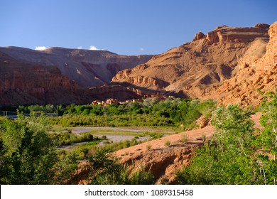 Valley of Roses above Kalaat M'Gouna in Morocco