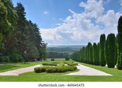 The valley of roses in Kislovodsk resort Park.