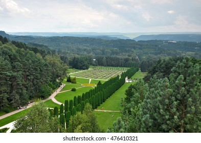 The valley of roses in Kislovodsk resort Park. The view from the cable car.
