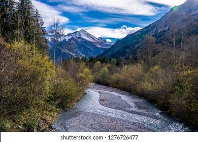 valley Stillachtal in the Allgäu Alps
