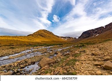 Valley in the Tablelands of Gros Morne National Park, Newfoundland
