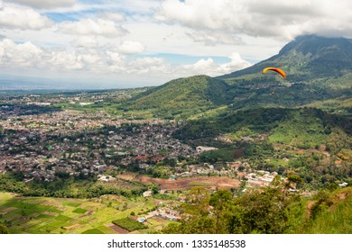 Valley town area; Batu; East Java; Indonesia