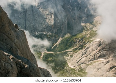 Valley view from Marmolada mountain