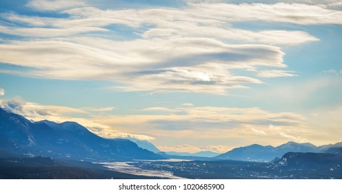 Valley View from Swansea Mountain in Invermere, British Columbisa Canada