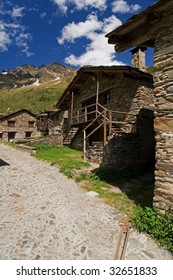 Valley of Viso (Bs), Valcamonica, Lombardy,Italy, The houses of Viso, an  ancient village
