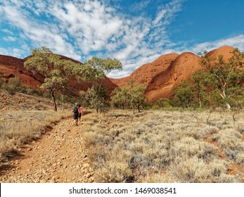 Valley of the Winds walking track through Kata Tjuta (The Olgas), Northern Territory,  Central Australia.
