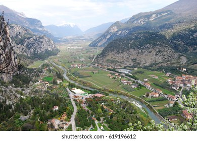 Valleys of the Alps near Arco in Italy