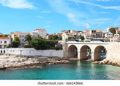 Vallon des auffes district of Marseille, France