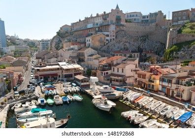 Vallon des Auffes is a small fishing village inside of the city of Marseille, France