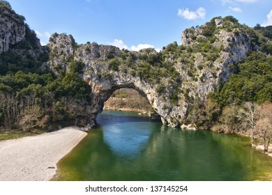 Vallon Pont d'Arc, a natural Arch in the Ardeche France