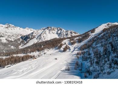 Valmalenco, ski resort.