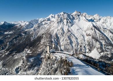 Valmalenco, ski resort. Snow Eagle cableway