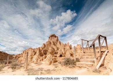 Valpamas badlands (Aguaral de Valpalmas) in Valpalmas, Aragon (Spain)