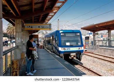 Valparaiso / Chile - Feb 2012: The metro stantion in the historic city of Valparaiso, UNESCO World Heritage.