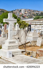 VALPARAISO, CHILE - FEBRUARY 11, 2016: Panteon Hill, Dissidents Cemetery in Valparaiso is a place where many famous people were burried and have their tombs there.