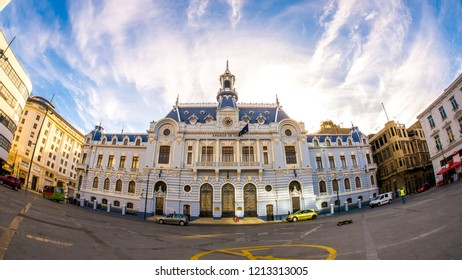 VALPARAISO, CHILE - JUNE 22: View on historic Architecture in the center of the city on June 22, 2016 in Valparaiso, Chile.