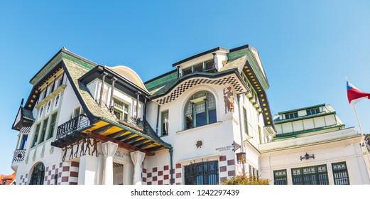 Valparaiso, Chile - Mar 19, 2018: Baburizza Palace - Valparaiso, Chile