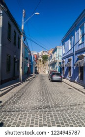 VALPARAISO, CHILE - MARCH 29, 2015: Street in the center of Valparaiso, Chile