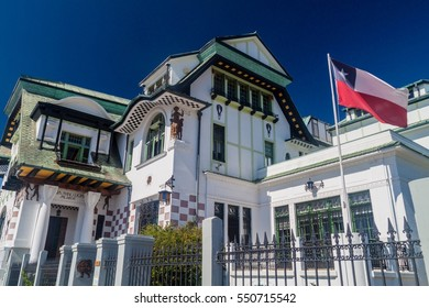 VALPARAISO, CHILE - MARCH 29, 2015: Palacio Baburizza, Art museum in Valparaiso, Chile