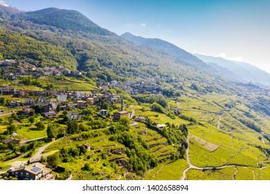 Valtellina (IT) - Mountain in Valtellina - Castel Grumello area - Church of San Antonio Abate