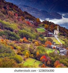 Valtellina - Italy - autumn view