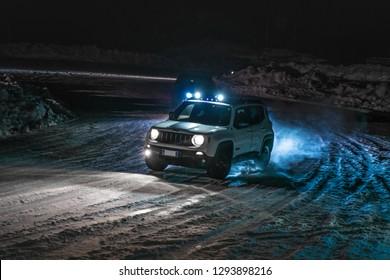 Valtellina, Italy - January 2018 - Jeep Renegade
