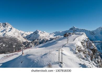 Valtellina, ski station. Winter Holidays in the Italian Alps
