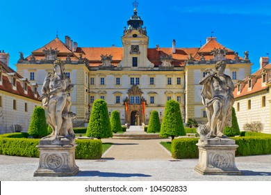 Valtice is one of the most impressive baroque residences of Central Europe. It was built for the princes of Liechtenstein by Johann Bernhard Fischer von Erlach in the early 18th century.