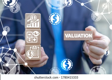 Valuation Business Finance Data Analytics Investment Concept.