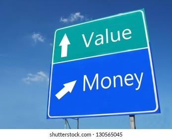 Value-Money road sign