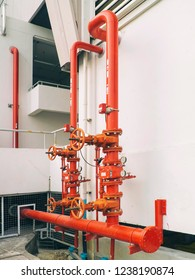 Valve Fire Protection Pipe of the building