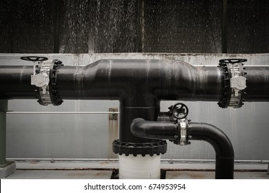 Valve and piping in factory