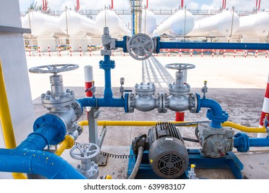 Valves gas pipeline and storage of gasoline