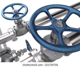Valves. Industrial Background