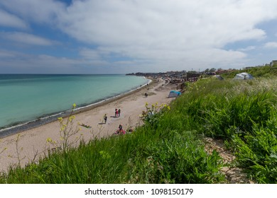 Vama Veche, Constanta / Romania - 05 01 2018 - Photo of the Beach in Vama Veche on the first of may