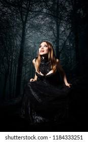 vampire in the dark woods