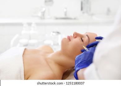 Vampire facelift. Plasma injection. A rejuvenating treatment.