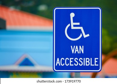 Van Accessible Sign for handicapped person